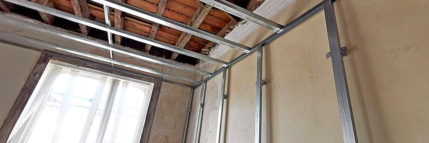 metal battens - renovating after rising damp
