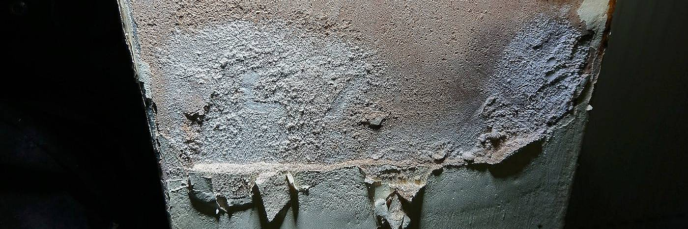 gypsum plasters break down in the presence of rising damp
