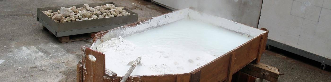 hot lime mortar