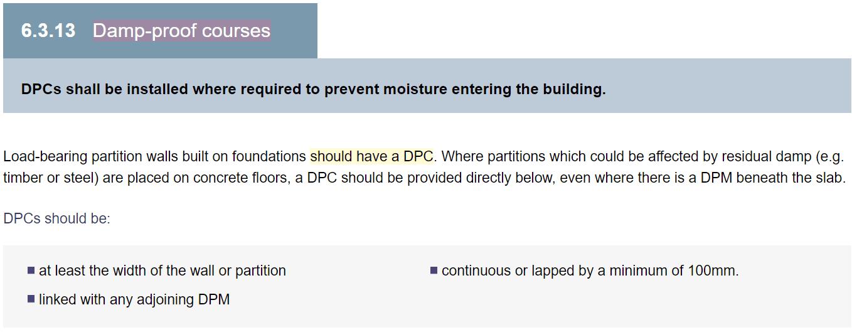 Building standards DPC